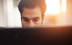Programmer working at software developement company. Office Royalty Free Stock Photo