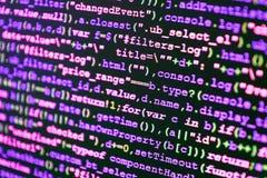 Programmera abstrakt algoritm för workflow arkivbild