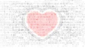 Programmera för förälskelse och för dator elektronisk hjärta royaltyfri illustrationer