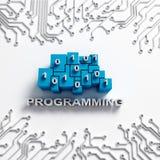 Programmera illustrationen med strömkretsar Royaltyfri Fotografi