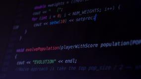 Programmera koden som kör ner en datorskärmterminal arkivfilmer