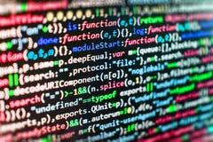 Programmera kodifiera skärmen för källkod Royaltyfria Bilder