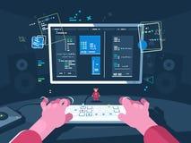 Programmera och kodifiera royaltyfri illustrationer