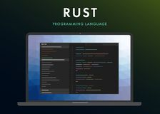Programmera språk för rost royaltyfri illustrationer