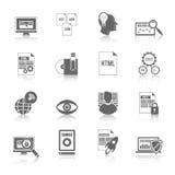 Programmerare Icon Black vektor illustrationer