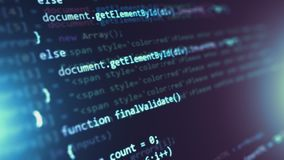 Programmerende broncode abstracte achtergrond stock footage