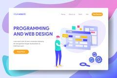 Programmering en Web ontwerp stock illustratie