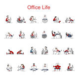 Programmers At Work, Office Life, Sketch For Your Design Stock Images