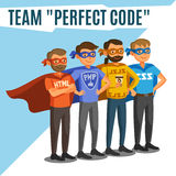 Programmers, developers, process coding, teamwork. Programming c Stock Photo
