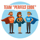 Programmers, developers, process coding, teamwork. Programming c Stock Images