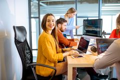 Programmers working in the office royalty free stock images