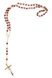 Programmes de rosaire d'isolement sur le blanc Image stock