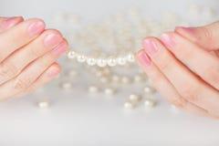 Programmes des perles artificielles Images libres de droits