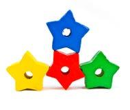 Programmes en bois de jouet photographie stock