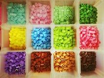 Programmes en plastique multicolores Photographie stock
