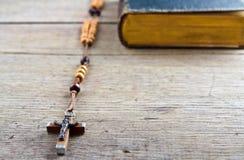 Programmes et bréviaire de rosaire Images stock