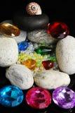 Programmes et pierres Photographie stock