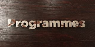 Programmes - grungy wooden headline on Maple  - 3D rendered royalty free stock image Royalty Free Stock Image