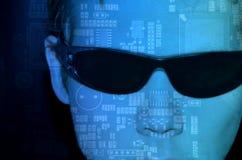 Programmeur bij computer Royalty-vrije Stock Foto's