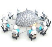 Programmeur, cerveau photo stock