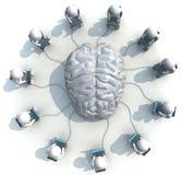 Programmeur, cerveau Photos stock