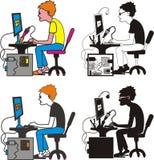 programmeur, mechanische ingenieur Stock Afbeelding