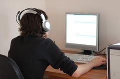 Programmeur op het werk Stock Afbeelding