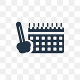 Programmez l'icône de vecteur d'isolement sur le fond transparent, Schedul illustration libre de droits
