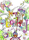 Programmfehler-alles- Gute zum Geburtstagkarte Stockfoto