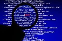 Programmfehler-Gleichlauf Stockbilder