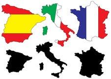 Programmi dei paesi mediterranei   Immagine Stock Libera da Diritti