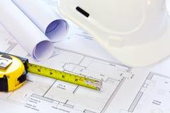 Programmi della costruzione e del cappello duro Immagine Stock