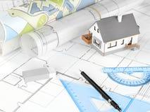 Programmi di costruzione di alloggi Immagini Stock