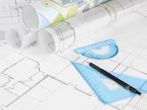 Programmi di costruzione di alloggi Fotografie Stock Libere da Diritti