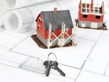 Programmi di costruzione di alloggi Fotografia Stock Libera da Diritti