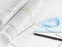 Programmi di costruzione di alloggi Fotografie Stock