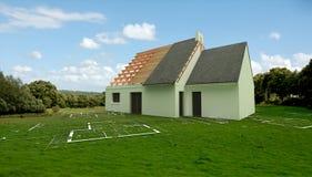 Programmi di costruzione di alloggi nella campagna Immagini Stock