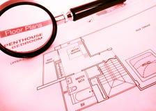 Programmi di pavimento di lusso dell'appartamento Immagini Stock Libere da Diritti