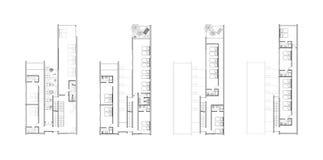 Programmi di pavimento di un disegno architettonico Fotografia Stock Libera da Diritti