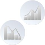 Programmi finanziari Fotografia Stock