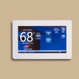 Programmierbarer elektronischer Thermostat, Stockfoto
