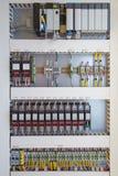 Programmierbarer Logik-Prüfer PLC herein enthalten von analog-digitalem lizenzfreies stockbild