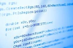Programmierencodeblautönung Lizenzfreies Stockfoto