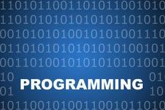 Programmierender abstrakter Hintergrund Lizenzfreies Stockbild