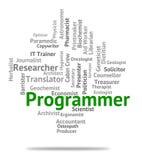 Programmierer-Job Shows Recruitment Jobs And-Einstellung Lizenzfreie Stockfotografie