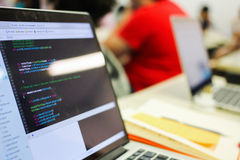 Programmierungsdetail stockfoto