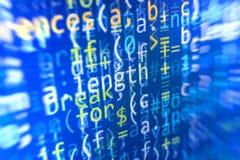 Programmierungskodierungsquellcodeschirm Stockbild
