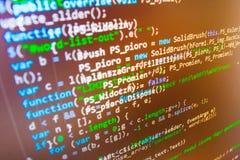 Programmierungskodierungsquellcodeschirm Lizenzfreies Stockbild