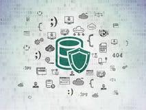 Programmierungskonzept: Datenbank mit Schild auf Digital-Daten tapezieren Hintergrund stock abbildung