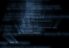 Programming code. 3D Programming code with light rays. XXL Stock Photo